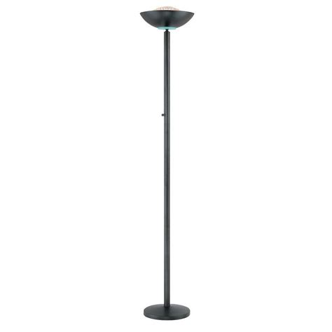 home depot standing ls illumine designer collection 72 in black floor l cli