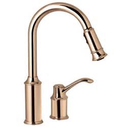 kitchen faucets copper moen 7590cpr aberdeen copper pullout spray kitchen faucets