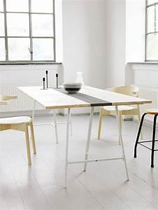 Créer Son Bureau Ikea : tr teaux 39 id es d co pour cr er une table ou un bureau ~ Melissatoandfro.com Idées de Décoration