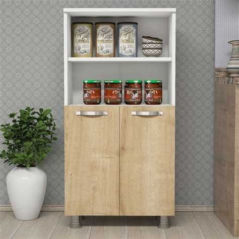 dispensa mobile mobile dispensa cucina in legno bianco quercia ferrand