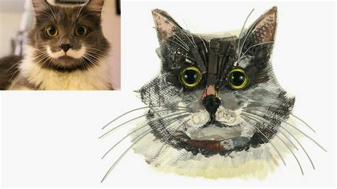 pet portraits    recycled materials  painted