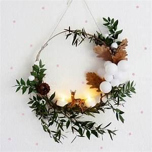 Faire Une Couronne De Noel : fabriquer des couronnes de no l marie claire ~ Preciouscoupons.com Idées de Décoration