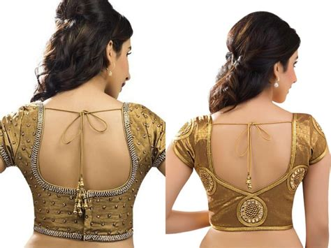 latest golden blouse designs images
