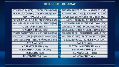 uefa champions league qualifying draw uefa champions
