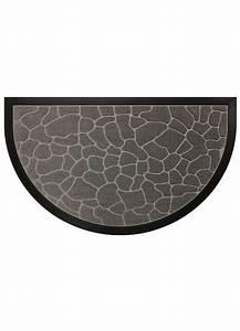 tapis d entree demi lune en polypropylene a reliefs With tapis demi lune intérieur