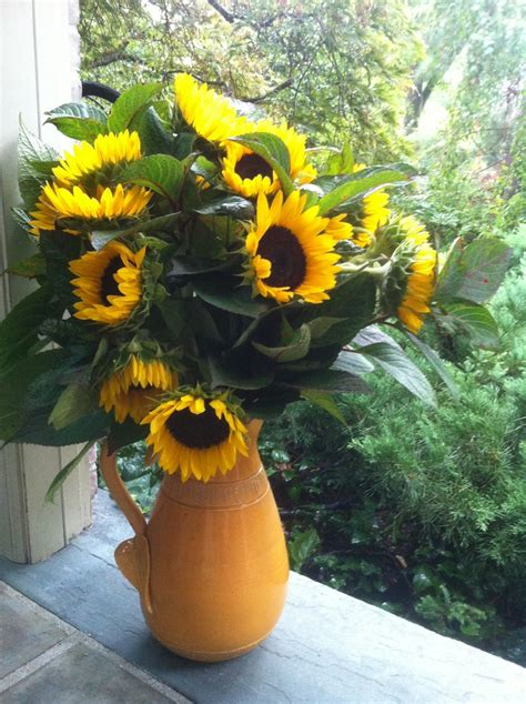 sunflower arrangement designs sunflower arrangement in a pitcher vase flower arrangement ideas pinterest vase