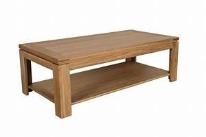 Table Basse Moderne : table basse moderne en bois massif chene de france hellin ~ Melissatoandfro.com Idées de Décoration