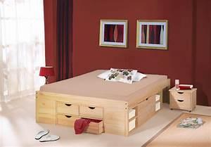 Bett Mit Stauraum 160x200 : schubkasten doppelbett mit viel stauraum bett oslo ~ Indierocktalk.com Haus und Dekorationen