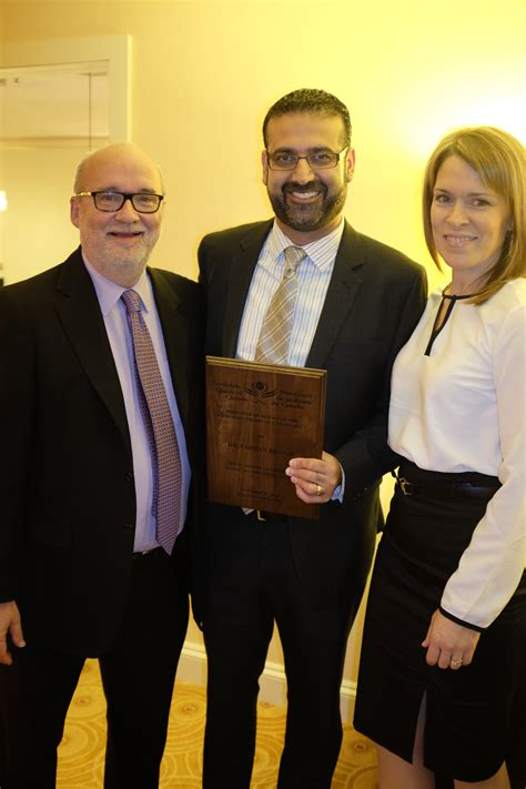 farhan bhanji receives award from paediatric chairs of