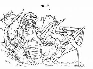 Mobile/godzilla Vs Muto Coloring Pages Coloring Pages