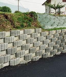 Mur En Béton : mur de soutenement en bloc beton con mur de sout nement ggi fabrication de produits en b ton et ~ Melissatoandfro.com Idées de Décoration