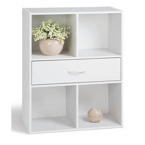 meuble cube de rangement compo 4 cases 1 tiroir