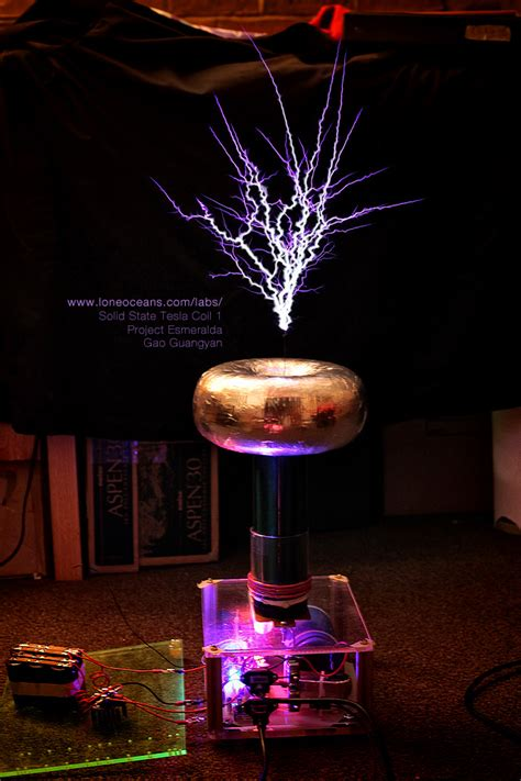 sstc   musical electronic tesla coil loneoceans