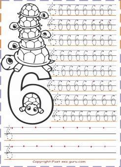 numbers tracing worksheets   kindergarten