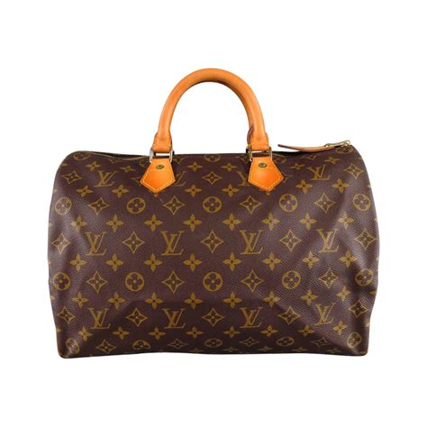 louis vuitton brown monogram canvas vintage speedy  top