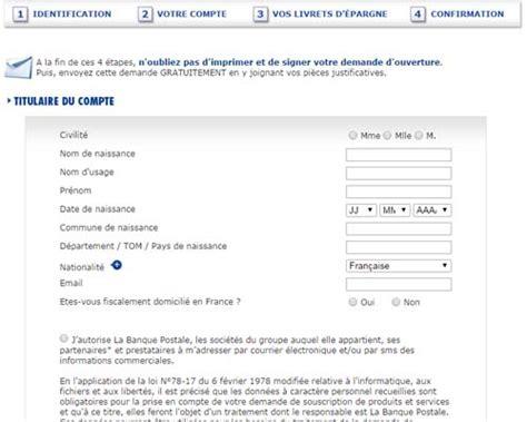 la banque postale adresse si鑒e ouvrir un compte la banque postale en ligne