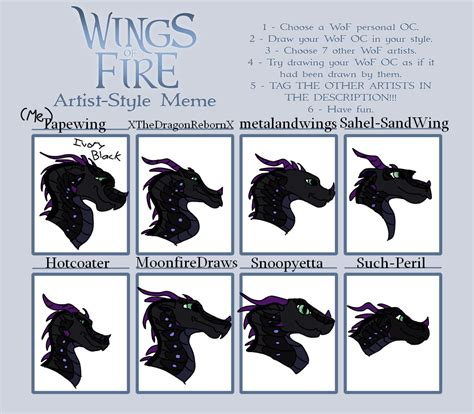 Wings Of Fire Memes - artist style meme wings of fire by tapewing on deviantart