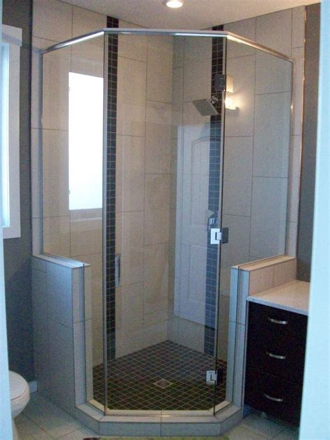 Shower Pics - neo angle custom glass shower