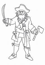Coloring Pages Pirate Blackbeard Pirates Clip Beard Template Pittsburgh Bard Sketch Clipartqueen sketch template