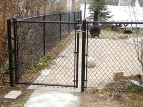 Chain Link Fence Walk Gate