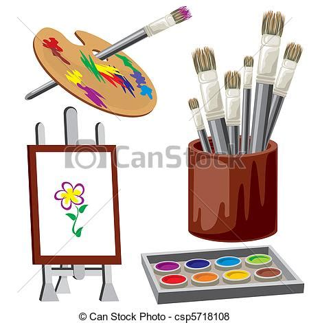 object  paint vector image tools  drawing materials