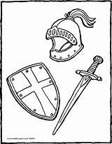 Bouclier Schwert Zwaard Kiddicolour épée Casque Armadura Kleurplaat Kleurprent Ritter Ridders Knights Kiddimalseite Colorier Malvorlagen Masque Chevaliers Ridder Epee Kleurplaten sketch template