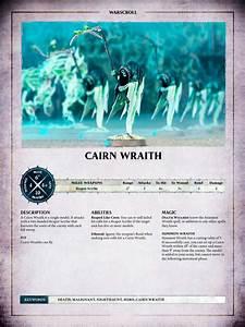 Aos Warscroll Cairn Wraith En