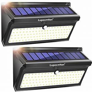 Spot Solaire Extérieur : luposwiten lampe solaire ext rieure 100 led etanche ~ Melissatoandfro.com Idées de Décoration