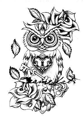Owl coloring pages, Owl tattoo drawings, Owl tattoo design