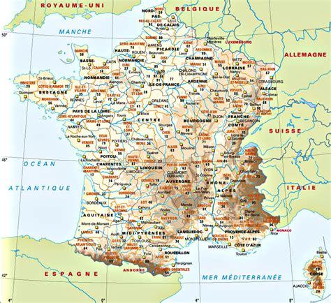 Carte De Avec Villes Principales by Carte De Villes Reflectim