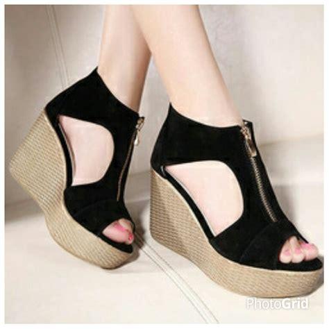 jual sandal wanita wedges sepatu wanita di lapak biru wedges biruwedges