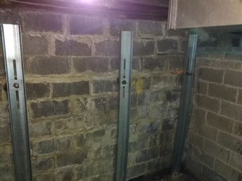 foundation repair bowing foundation wall  wrightstown