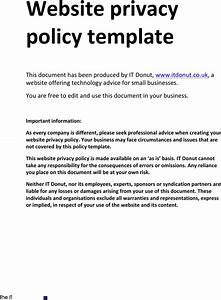 Privacy policy sample download free premium templates for Confidentiality policy template