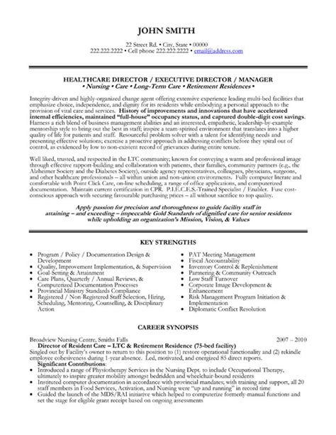 healthcare director resume sle template