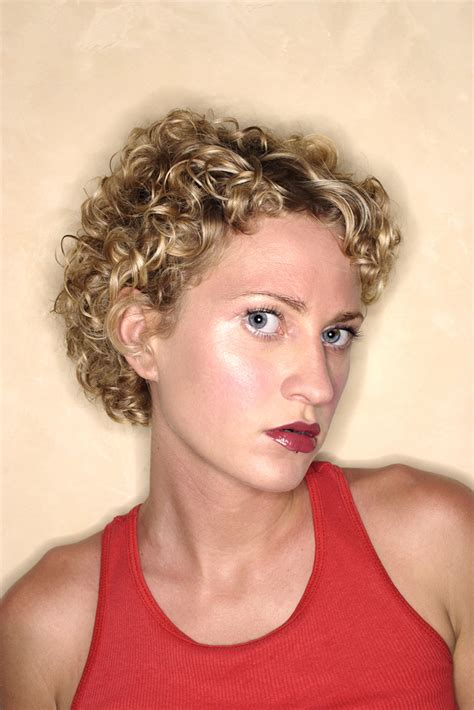 short hair perm pictures hair style  color  woman