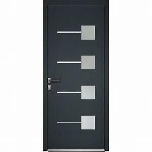porte d39entree aluminium soria artens poussant droit h With porte d entrée alu avec salle de bain éclairage