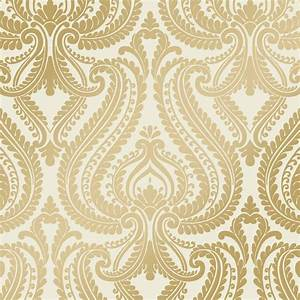 I love wallpaper shimmer damask metalic designer feature