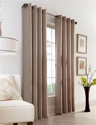 Grommet Curtain Panel Jute Faux Panels Couture