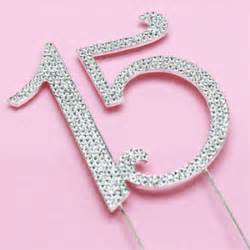 personalized party favors number 15 rhinestone cake topper quinceañera party