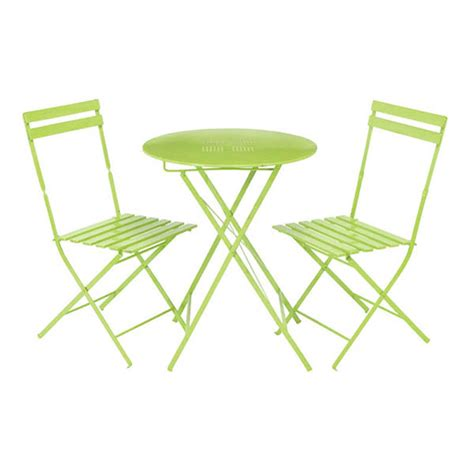 parisian lime green metal bistro set63219 outdoor