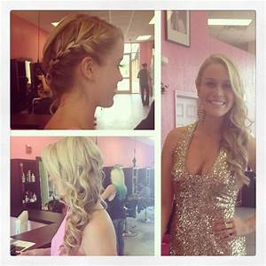 Side braid with curls for prom | Hair hair and more hair ...
