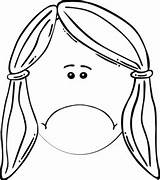 Sad Face Clipart Clip Coloring Happy Woman Line Cliparts Boy Clker Vector Head Royalty Mother Smiling Library Views Eryn Shared sketch template