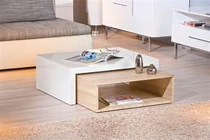 Table De Salon Modulable : table basse bois blanc pas cher petite table de salon en verre maisonjoffrois ~ Teatrodelosmanantiales.com Idées de Décoration