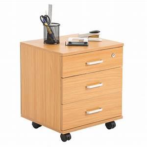 Bureau Sur Roulette : caisson de bureau rangement sur roulettes 3 tiroirs 3 coloris disponibles ebay ~ Teatrodelosmanantiales.com Idées de Décoration