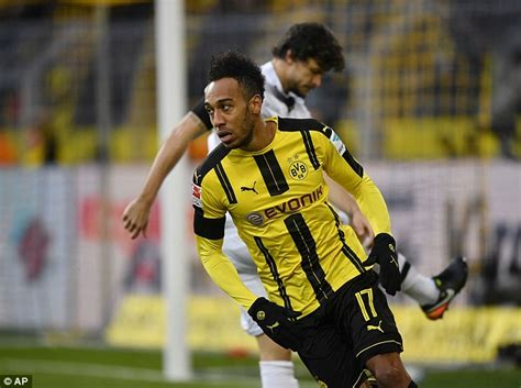 Borussia Dortmund star Pierre-Emerick Aubameyang is in red ...