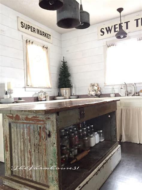 vintage farmhouse kitchen islands antique bakery counter