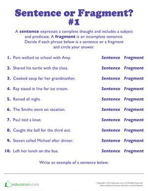 Sentence Or Fragment?  Grammar  Pinterest  Phrases And Sentences, Sentence Fragments And