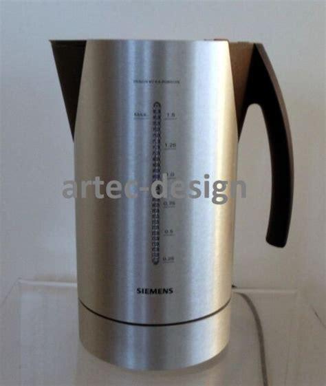 siemens wasserkocher porsche design siemens porsche design wasserkocher tw 91100 alu ebay