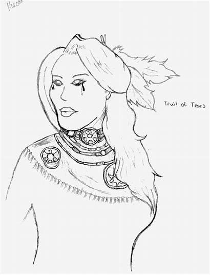 Tears Trail Drawing