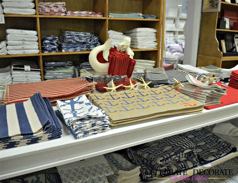 shopping in the htons for coastal and nautical home decor celebrate decorate
